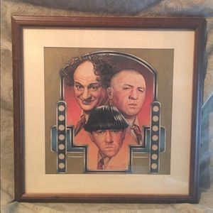 "Vintage Collectible ""3 Three Stooges"" Wall Display"